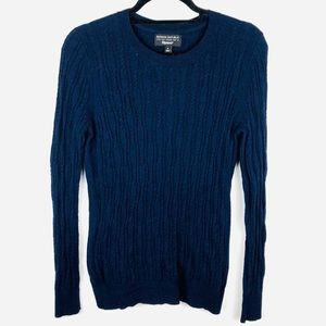 BANANA REPUBLIC Cable Knit Cashmere Wool Sweater